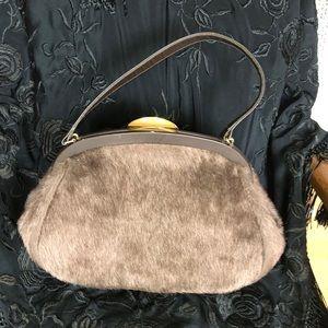 Vintage Faux fur purse